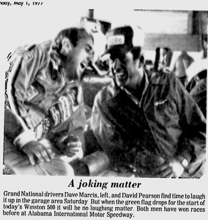 May 1 1977 waltrip goes to talladega victory lane with a his car got pit service during the day by bud moores gn crew finishing behind him in the top 5 were randy tissot aloadofball Image collections